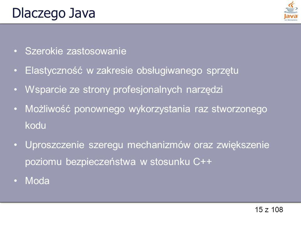 Dlaczego Java Szerokie zastosowanie