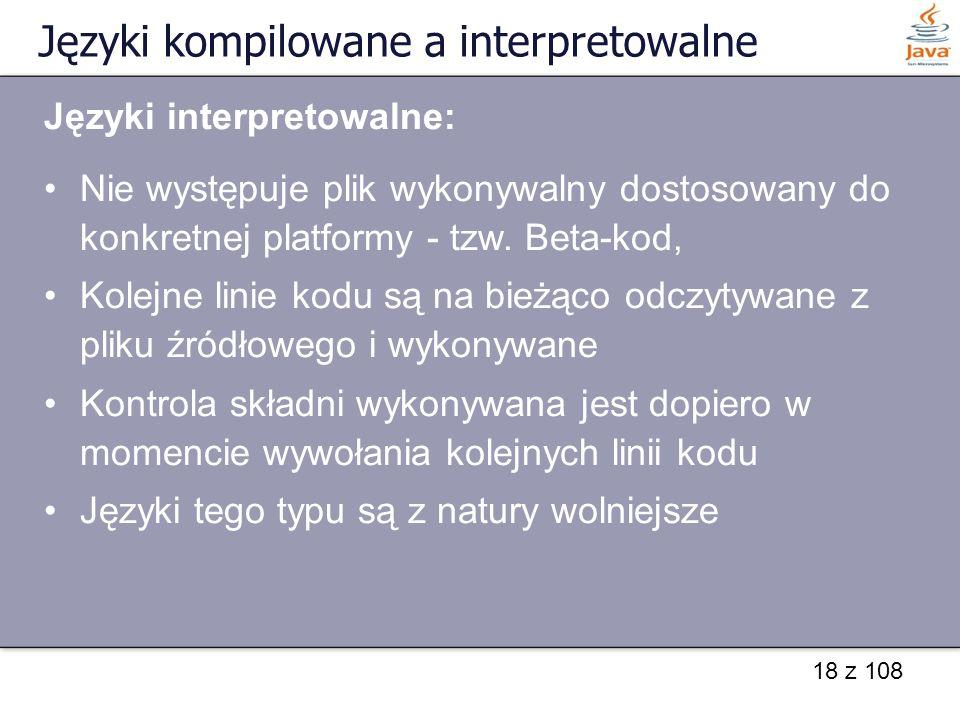Języki kompilowane a interpretowalne