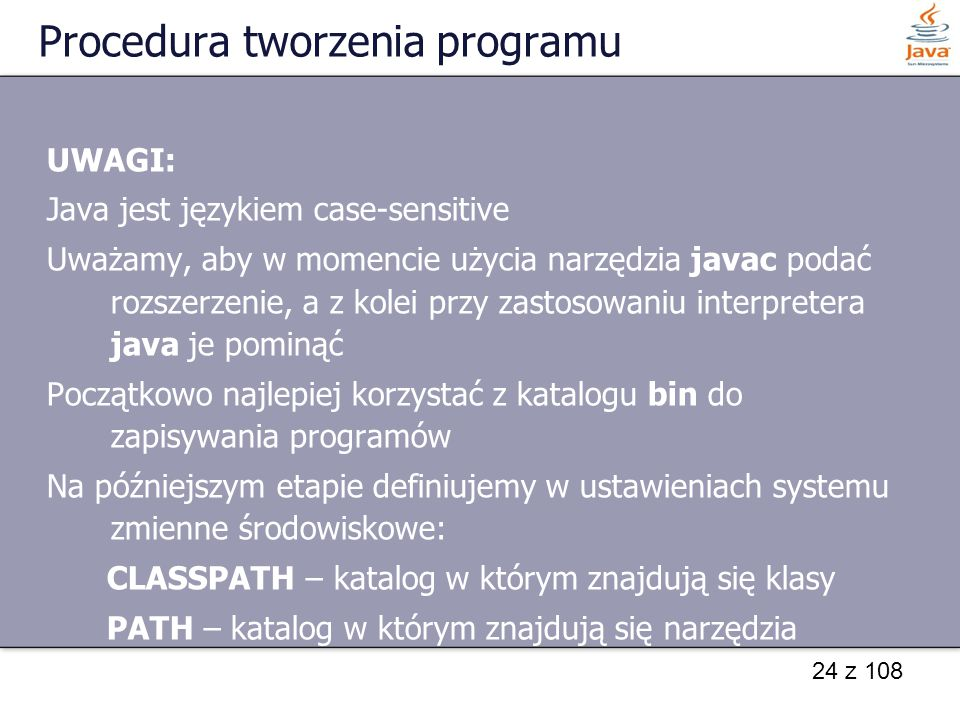 Procedura tworzenia programu