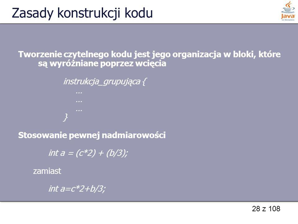 Zasady konstrukcji kodu
