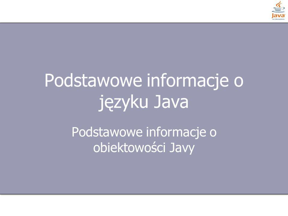 Podstawowe informacje o języku Java