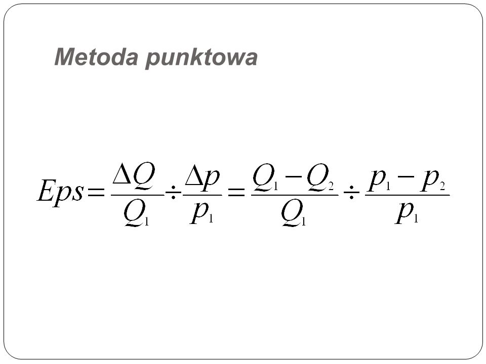 Metoda punktowa