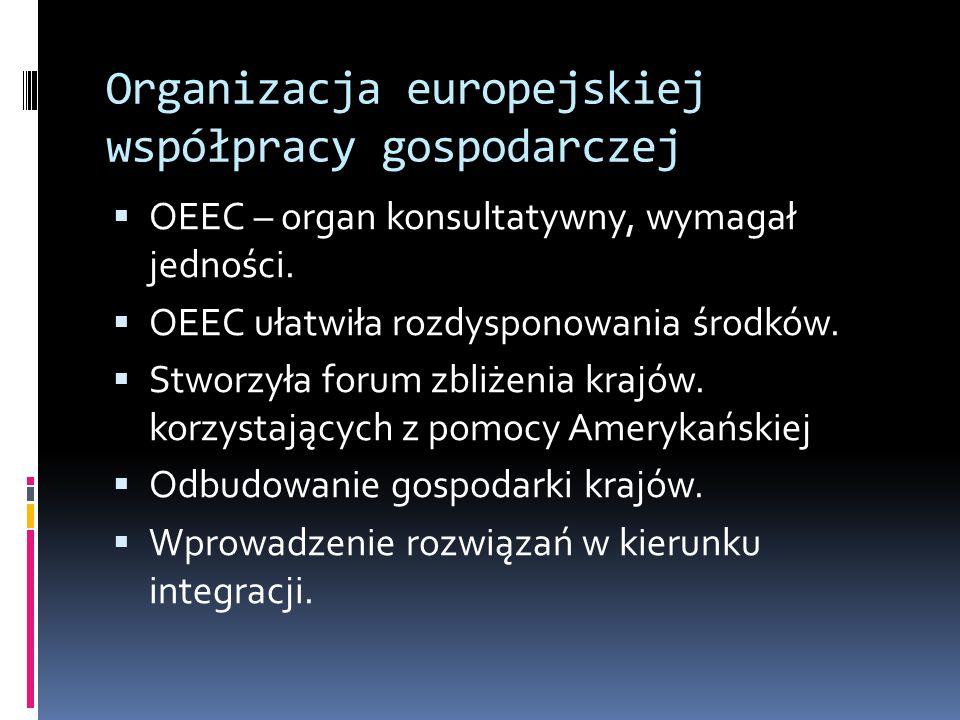 Organizacja europejskiej współpracy gospodarczej