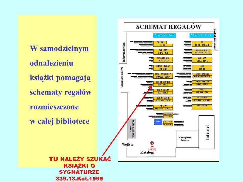 TU NALEŻY SZUKAĆ KSIĄŻKI O SYGNATURZE 339.13.Kot.1999