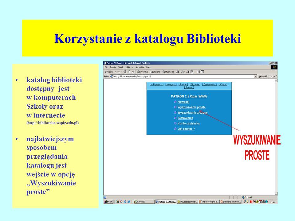 Korzystanie z katalogu Biblioteki