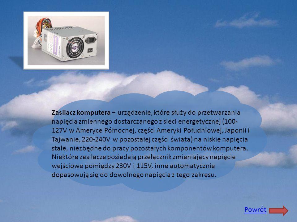 Zasilacz komputera − urządzenie, które służy do przetwarzania napięcia zmiennego dostarczanego z sieci energetycznej (100-127V w Ameryce Północnej, części Ameryki Południowej, Japonii i Tajwanie, 220-240V w pozostałej części świata) na niskie napięcia stałe, niezbędne do pracy pozostałych komponentów komputera. Niektóre zasilacze posiadają przełącznik zmieniający napięcie wejściowe pomiędzy 230V i 115V, inne automatycznie dopasowują się do dowolnego napięcia z tego zakresu.