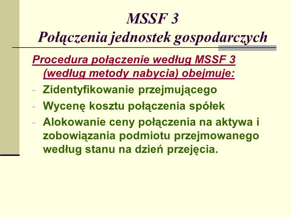 MSSF 3 Połączenia jednostek gospodarczych