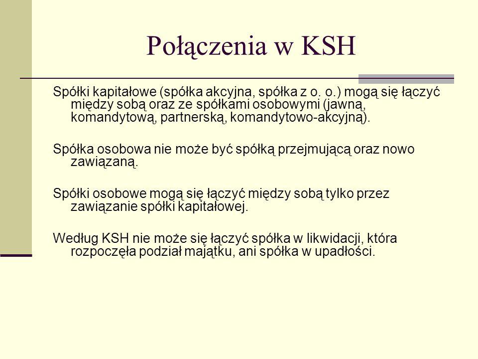 Połączenia w KSH