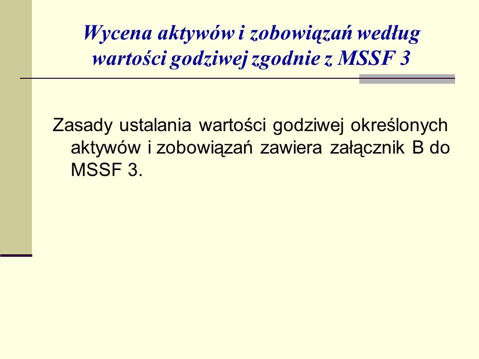 Wycena aktywów i zobowiązań według wartości godziwej zgodnie z MSSF 3