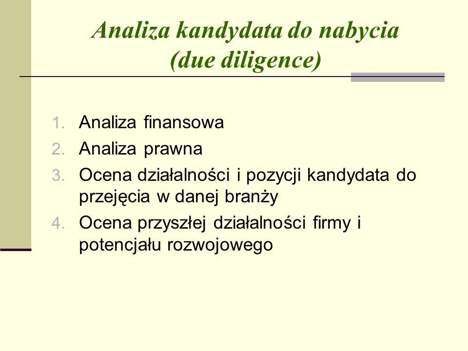 Analiza kandydata do nabycia (due diligence)