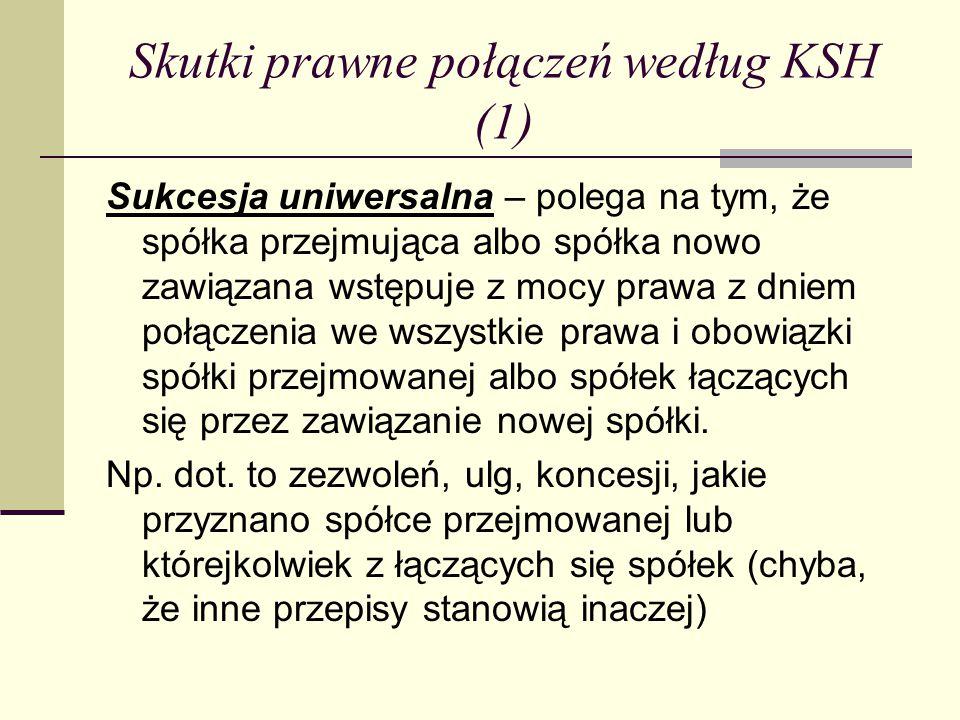 Skutki prawne połączeń według KSH (1)