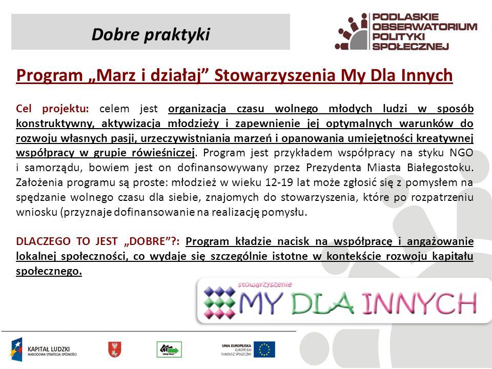 """Program """"Marz i działaj Stowarzyszenia My Dla Innych"""