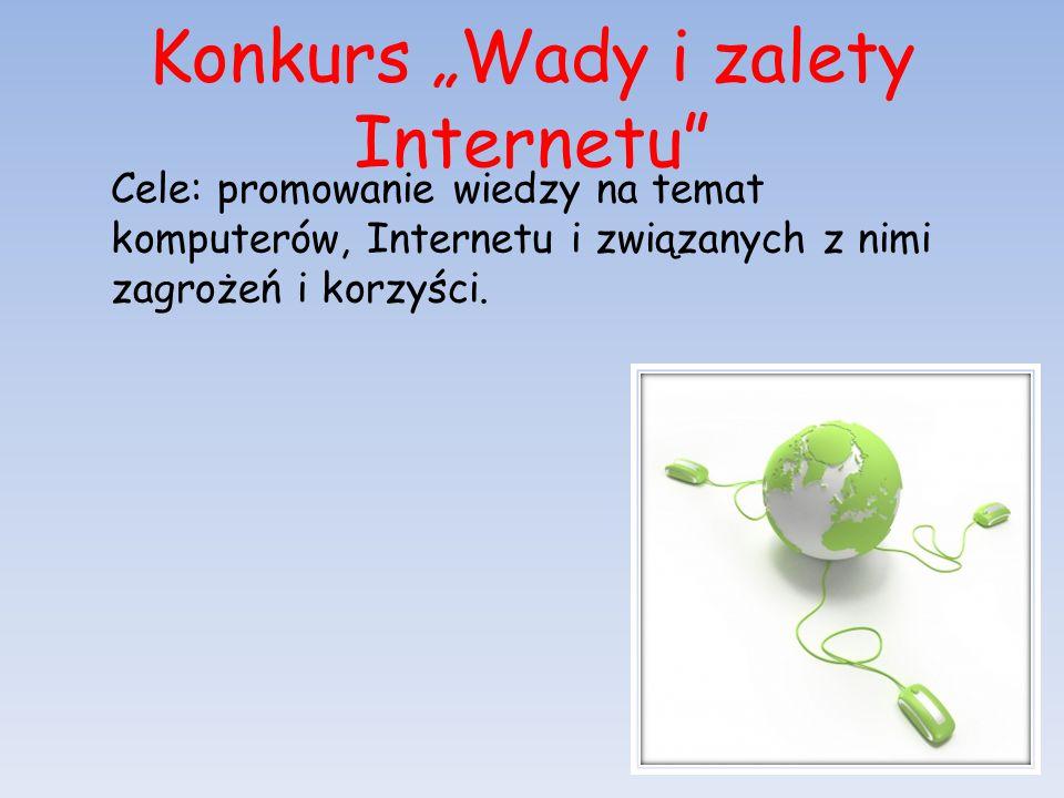 """Konkurs """"Wady i zalety Internetu"""