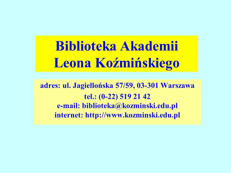Biblioteka Akademii Leona Koźmińskiego