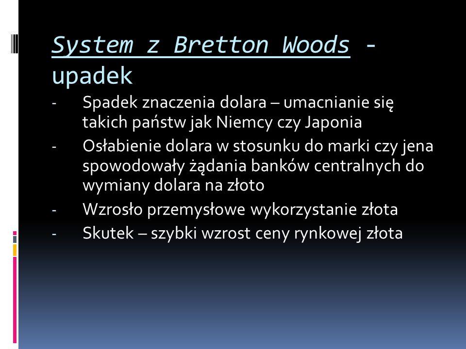 System z Bretton Woods - upadek