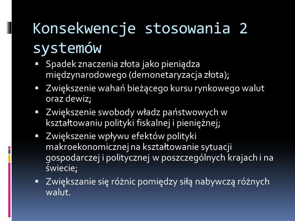 Konsekwencje stosowania 2 systemów