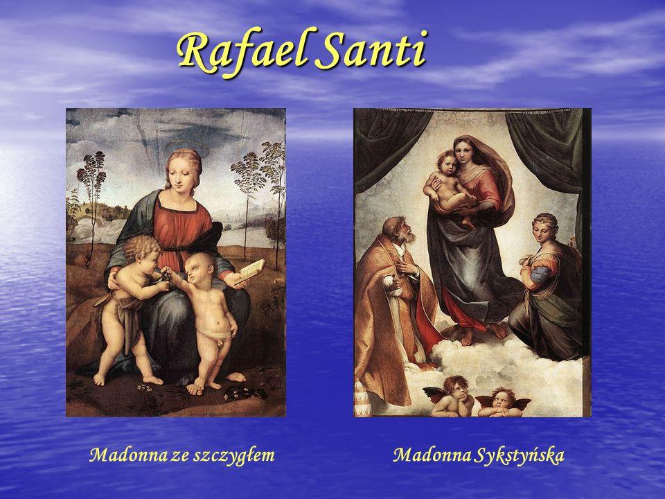 Rafael Santi Madonna ze szczygłem Madonna Sykstyńska