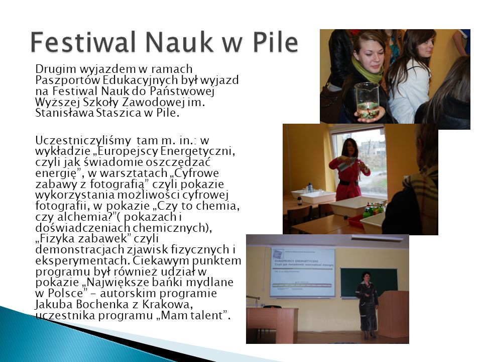 Festiwal Nauk w Pile