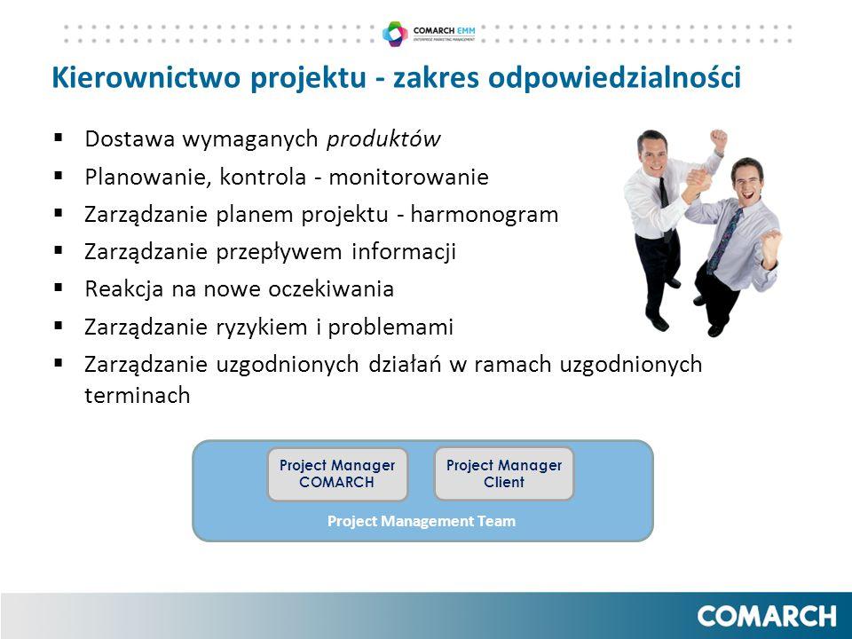 Kierownictwo projektu - zakres odpowiedzialności