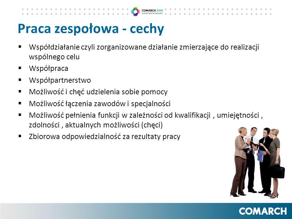 Praca zespołowa - cechy