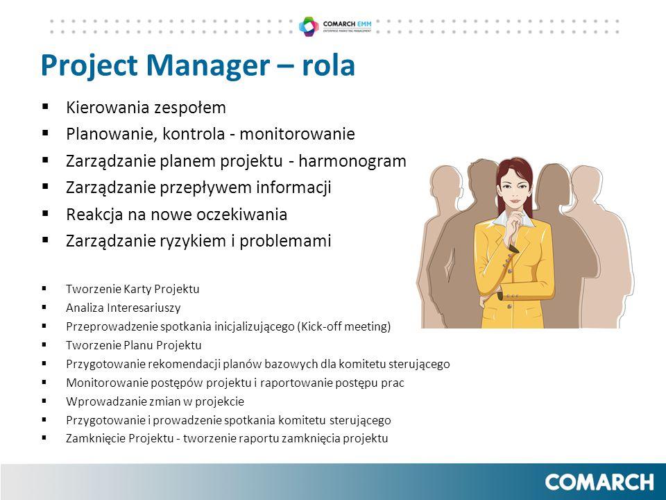 Project Manager – rola Kierowania zespołem