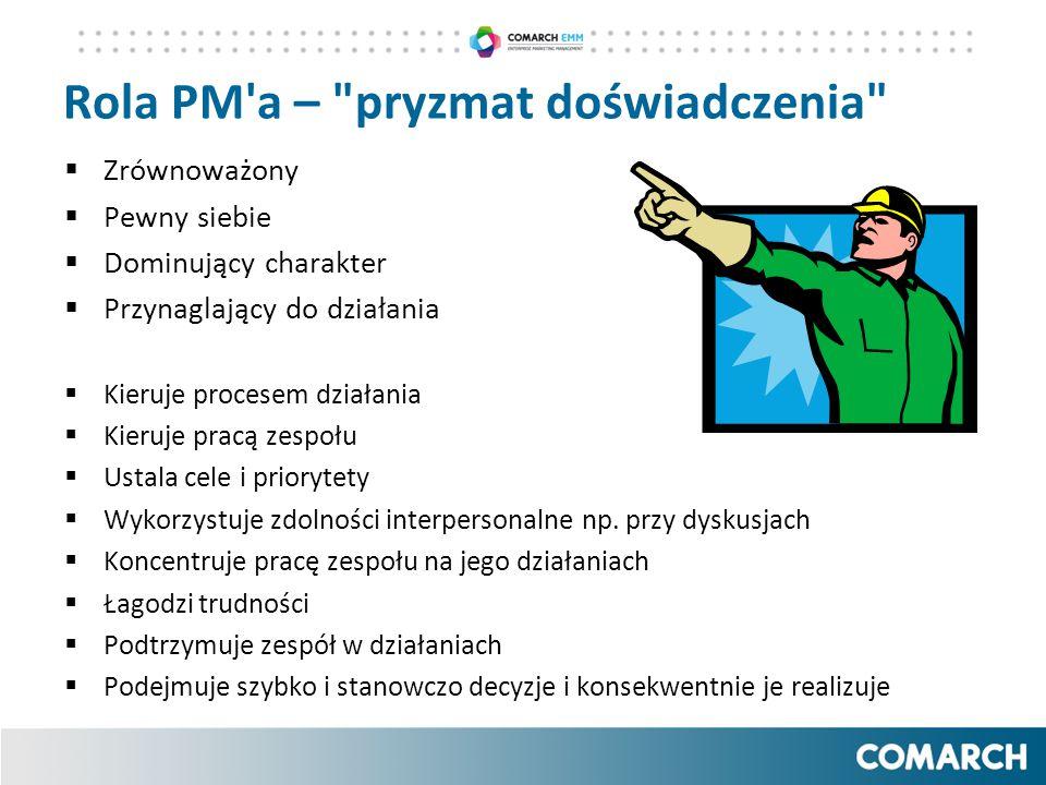 Rola PM a – pryzmat doświadczenia