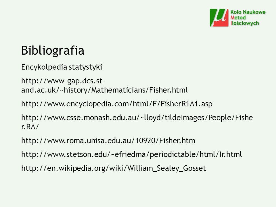 Bibliografia Encykolpedia statystyki
