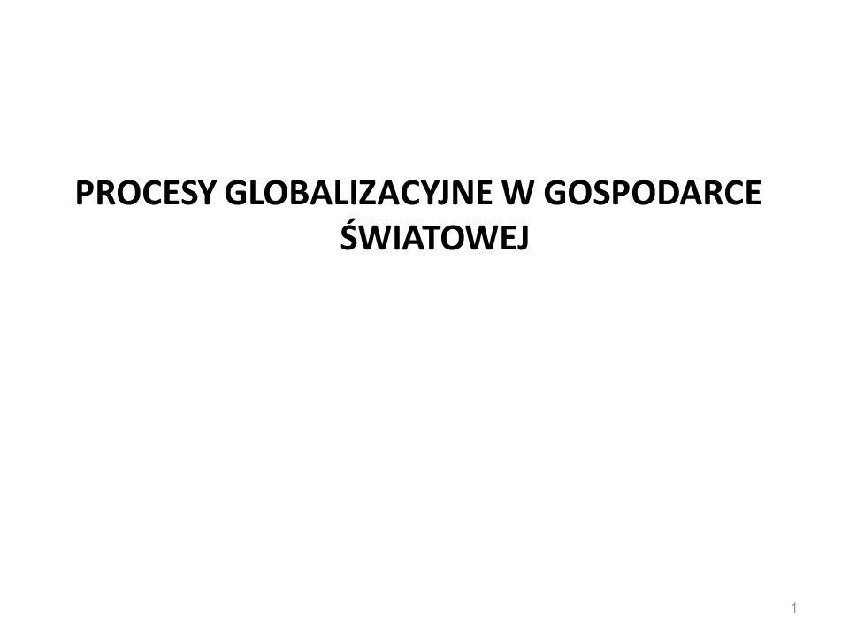 PROCESY GLOBALIZACYJNE W GOSPODARCE ŚWIATOWEJ