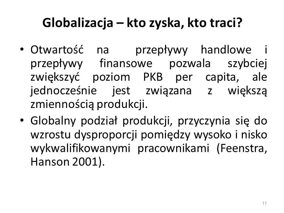 Globalizacja – kto zyska, kto traci