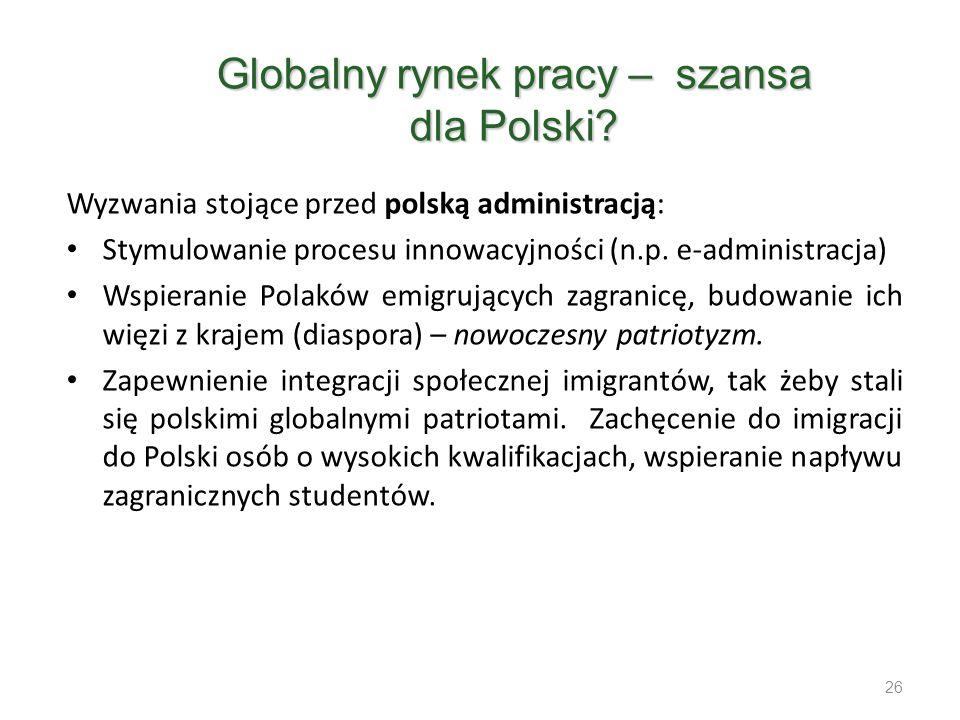 Globalny rynek pracy – szansa dla Polski
