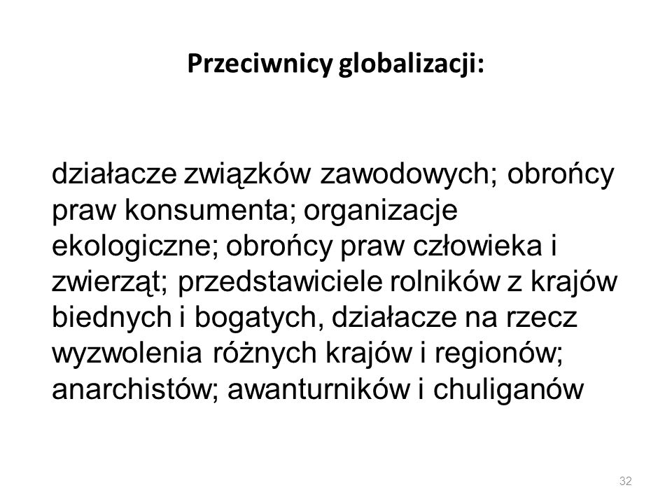 Przeciwnicy globalizacji: