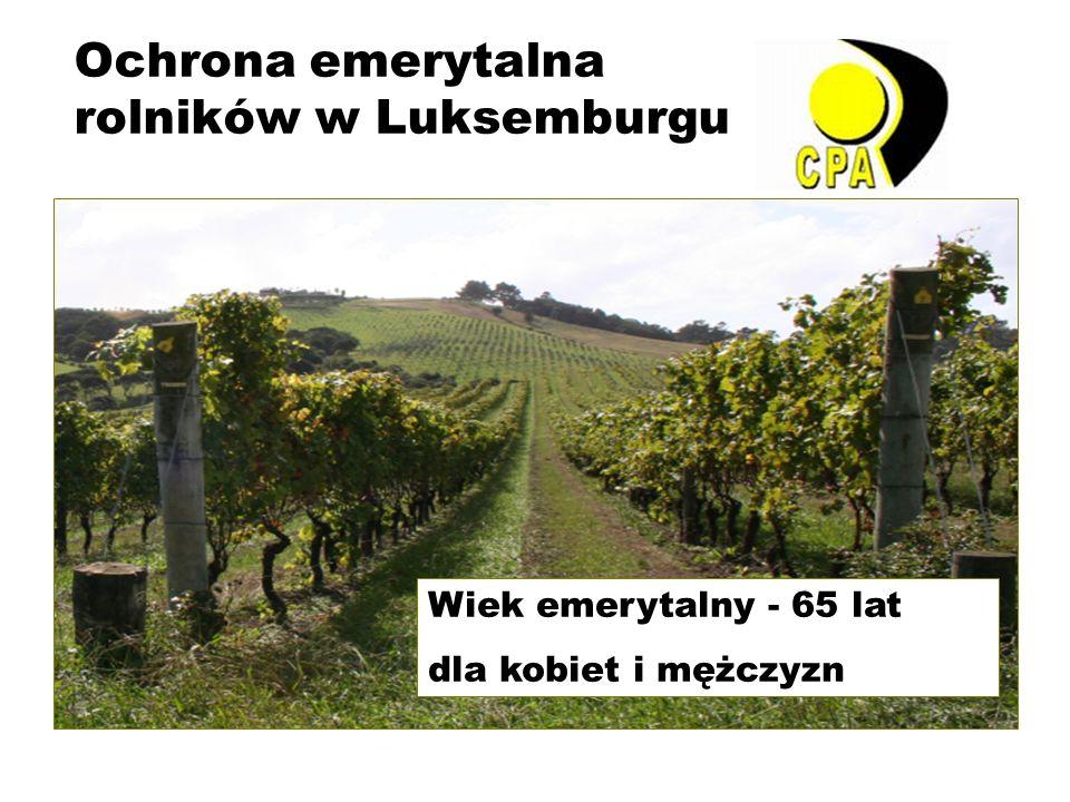 Ochrona emerytalna rolników w Luksemburgu