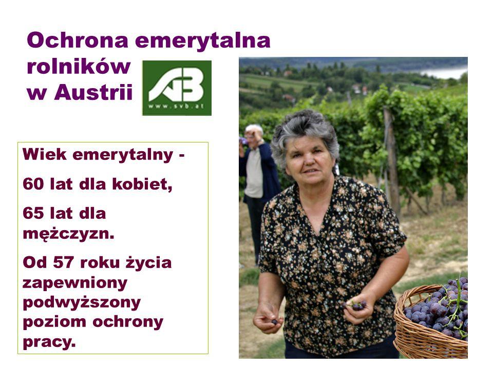 Ochrona emerytalna rolników w Austrii