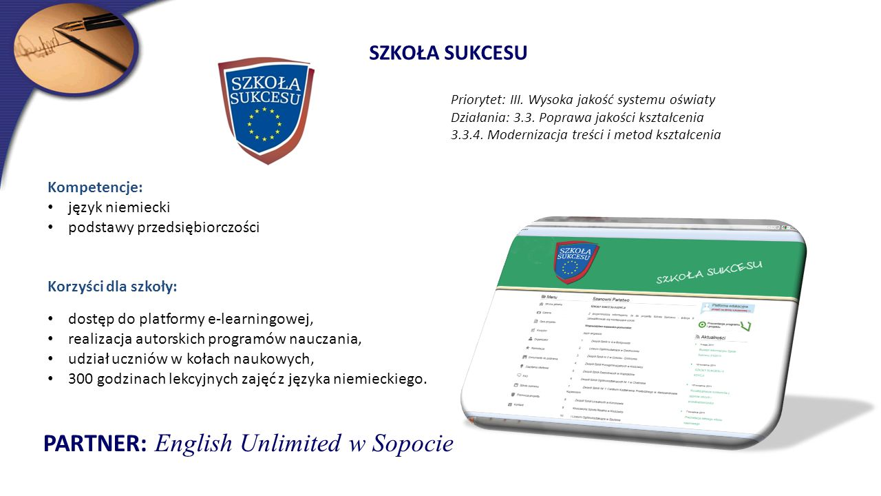 PARTNER: English Unlimited w Sopocie