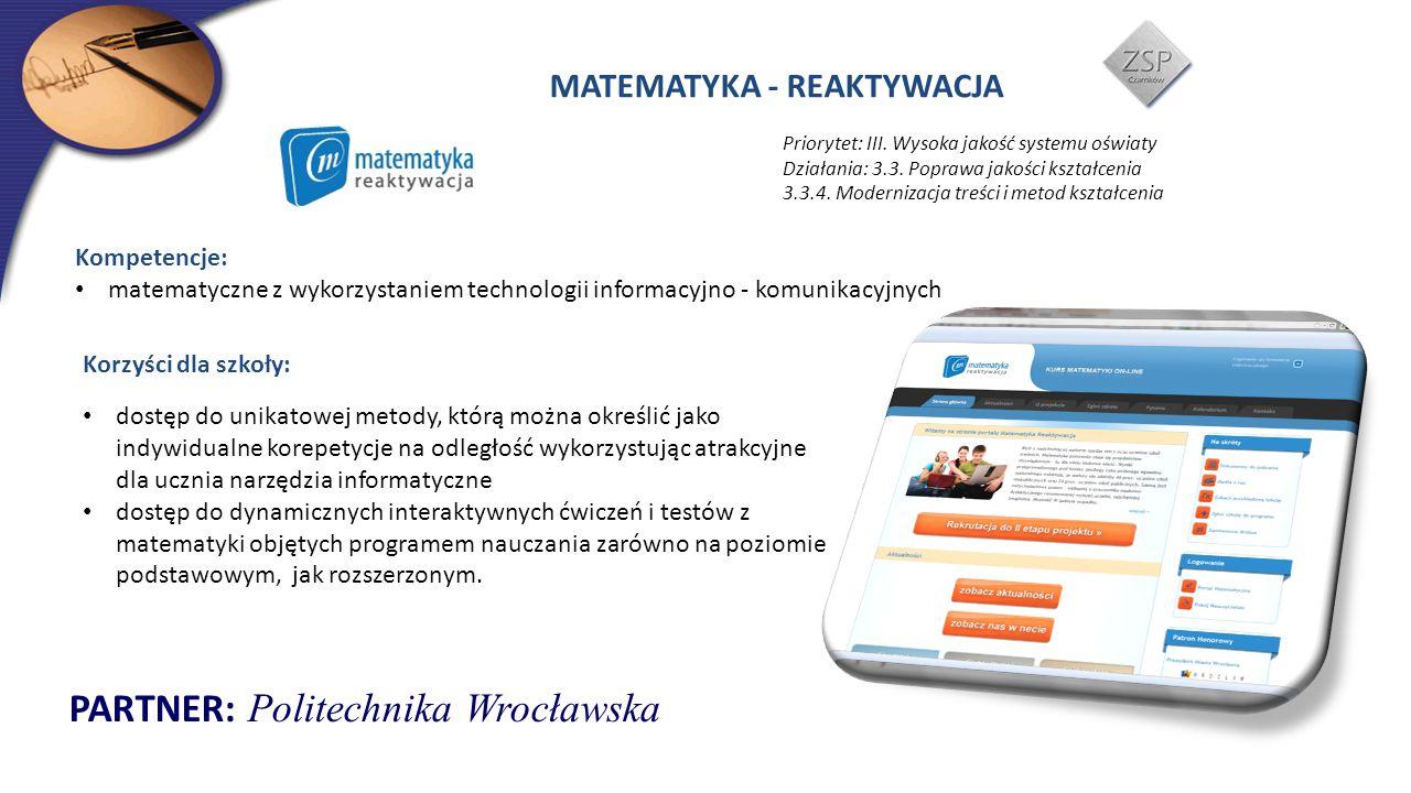 PARTNER: Politechnika Wrocławska