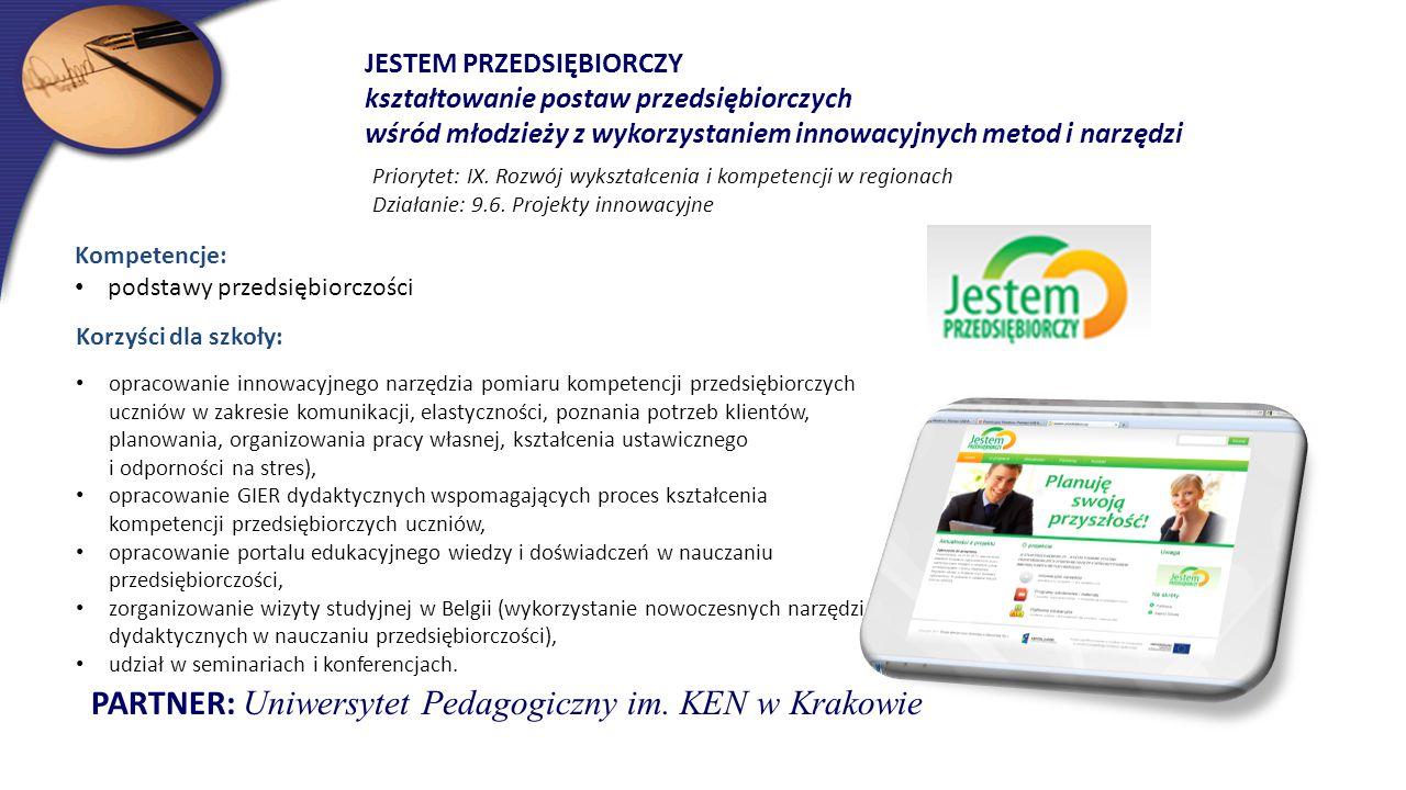 PARTNER: Uniwersytet Pedagogiczny im. KEN w Krakowie