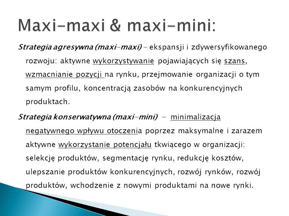 Maxi-maxi & maxi-mini: