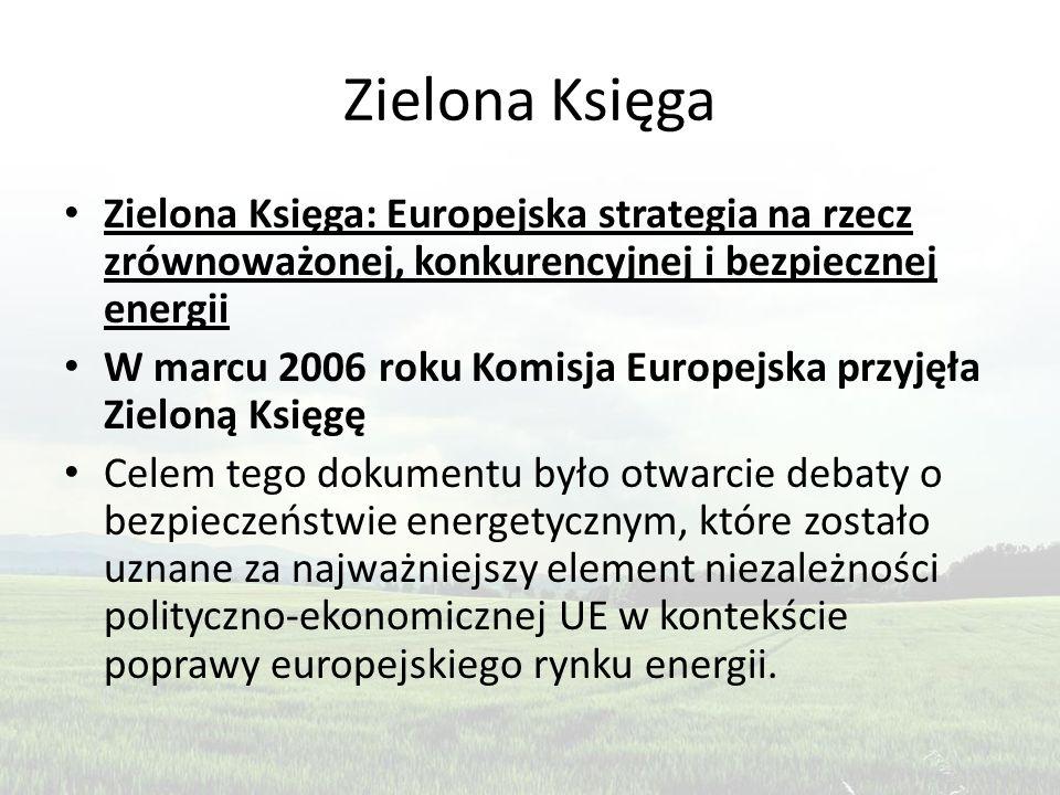 Zielona Księga Zielona Księga: Europejska strategia na rzecz zrównoważonej, konkurencyjnej i bezpiecznej energii.