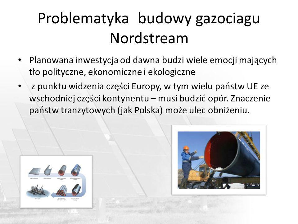 Problematyka budowy gazociagu Nordstream