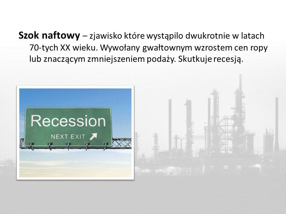 Szok naftowy – zjawisko które wystąpilo dwukrotnie w latach 70-tych XX wieku.