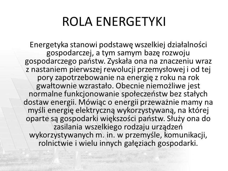 ROLA ENERGETYKI