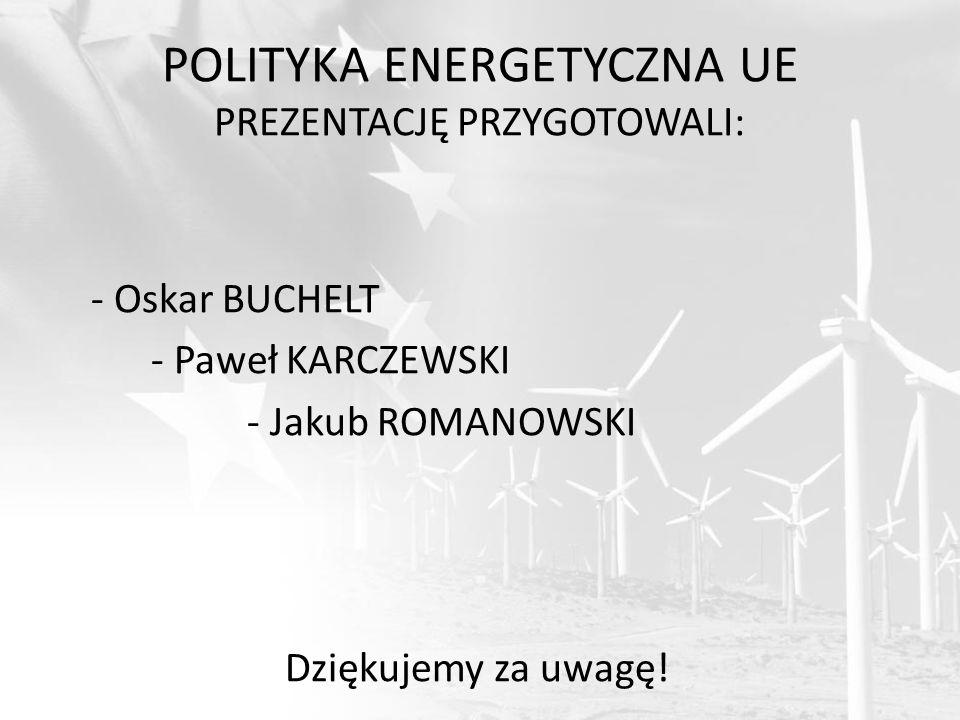 POLITYKA ENERGETYCZNA UE PREZENTACJĘ PRZYGOTOWALI: