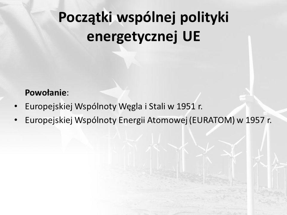 Początki wspólnej polityki energetycznej UE