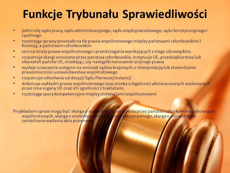 Funkcje Trybunału Sprawiedliwości