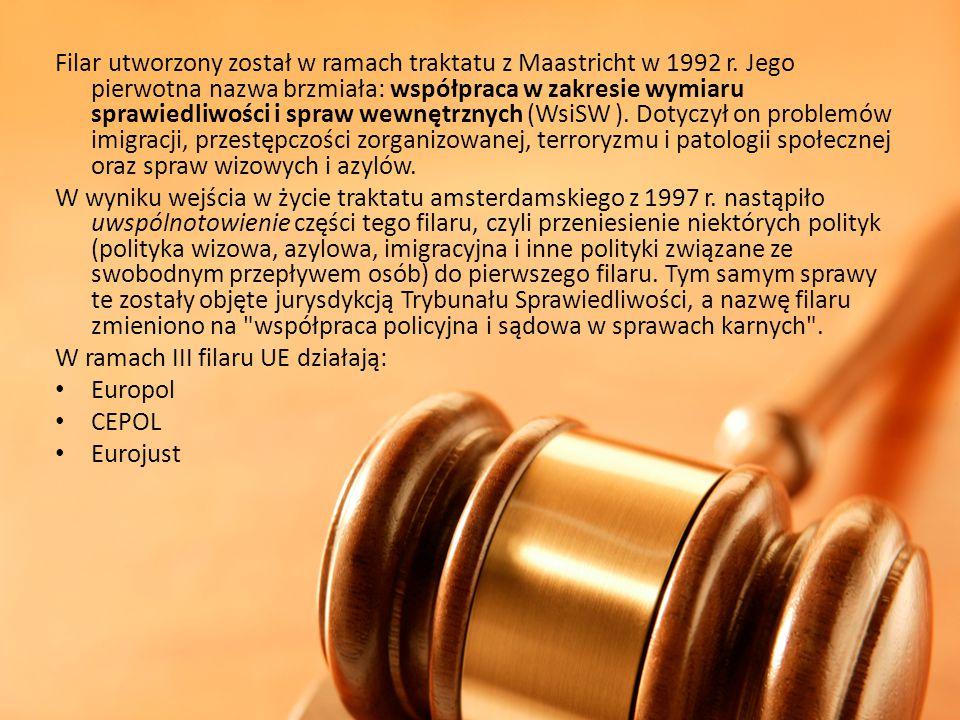 Filar utworzony został w ramach traktatu z Maastricht w 1992 r