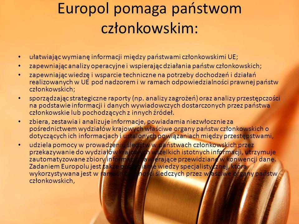 Europol pomaga państwom członkowskim: