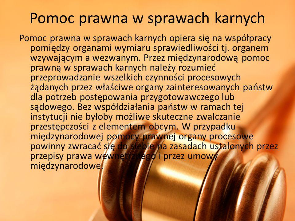 Pomoc prawna w sprawach karnych
