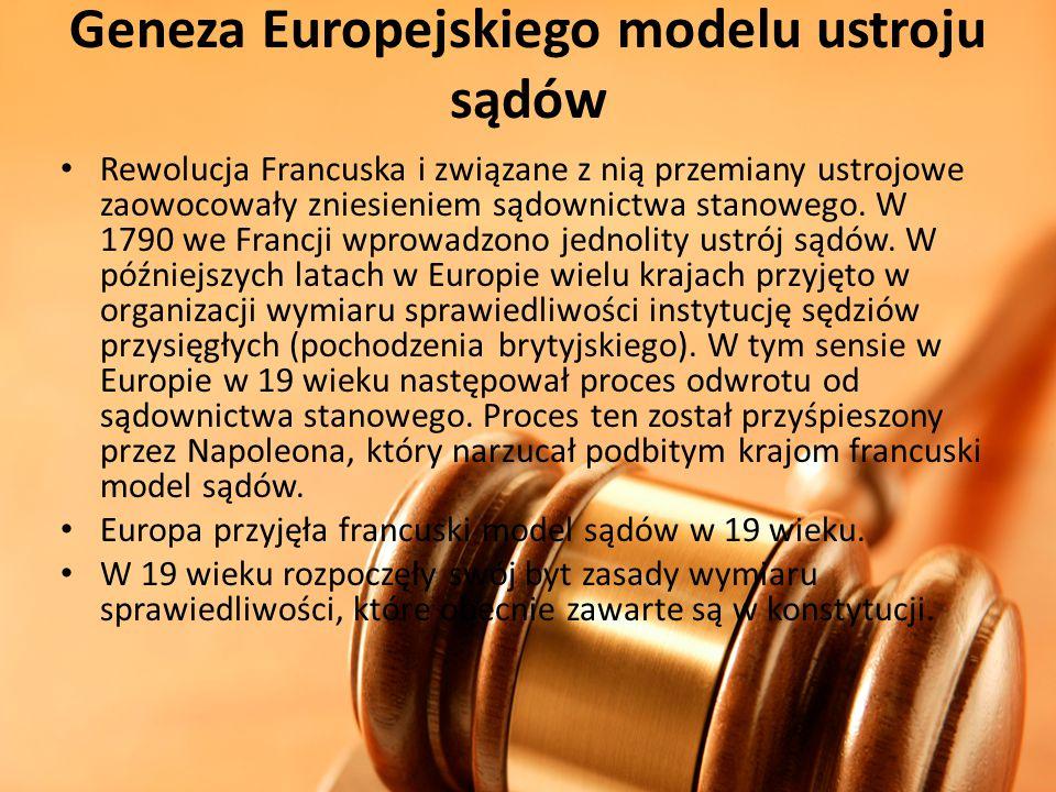 Geneza Europejskiego modelu ustroju sądów