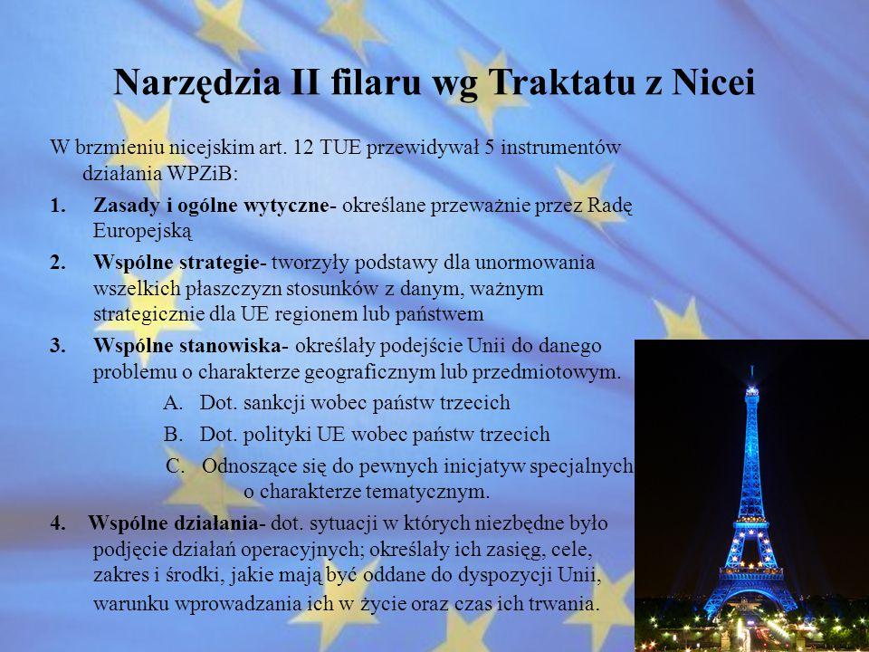 Narzędzia II filaru wg Traktatu z Nicei