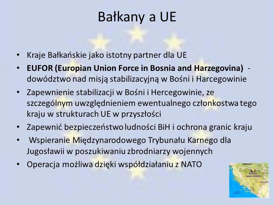 Bałkany a UE Kraje Bałkańskie jako istotny partner dla UE